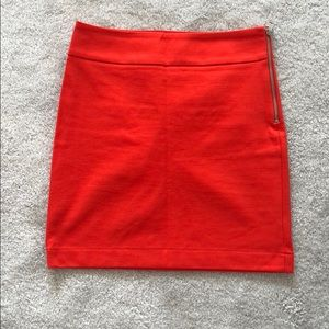 Banana Republic Orange Mini Skirt